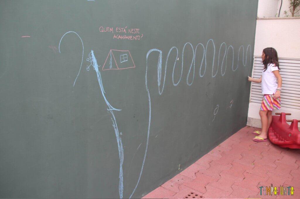 Como estimular a criatividade - parede com giz