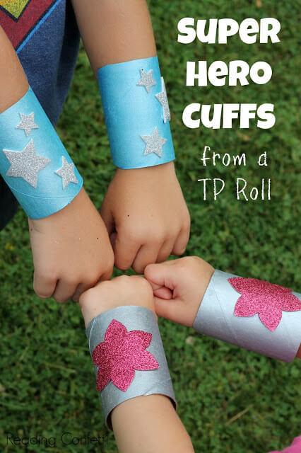 10 ideias criativas para fazer brinquedos com rolo de papel higiênico - super heroi