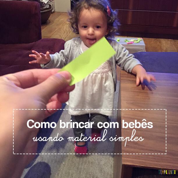Como criar brincadeiras para bebês com materiais simples