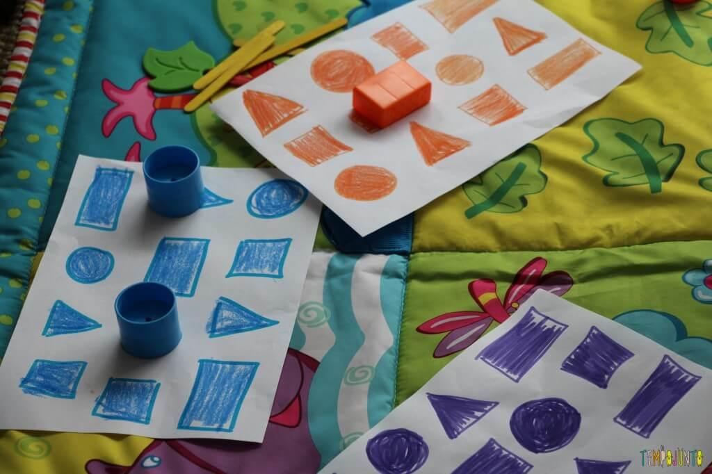 Maneiras divertidas de ensinar as cores - formas e cores iguais