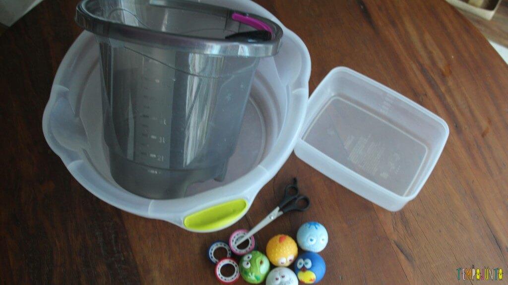 Uma brincadeira diferente - material do acerte o balde