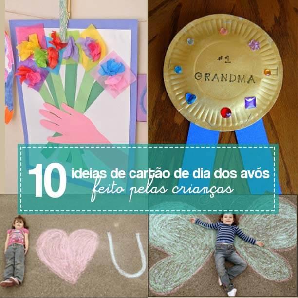 10 ideias criativas de cartão de Dia dos Avós feito pelas crianças