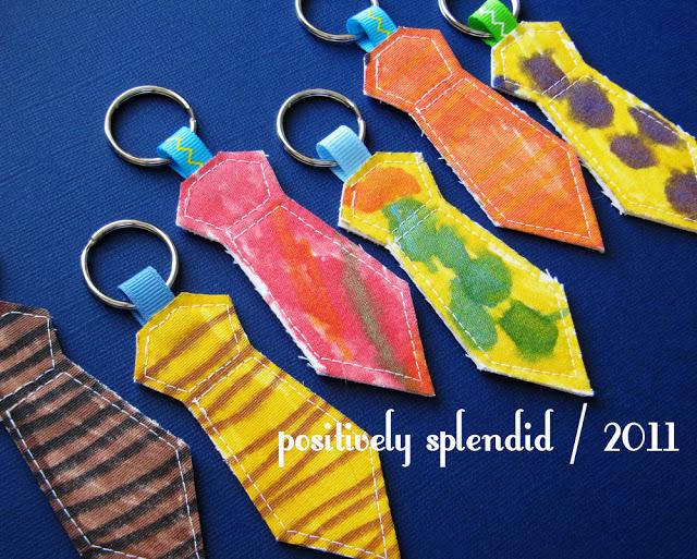 15 ideias de presentes feitos pelas crianças para o dia dos pais - chaveiro de gravata