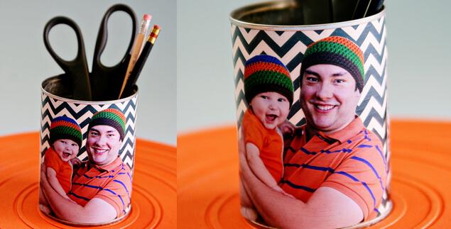 15 ideias de presentes feitos pelas crianças para o dia dos pais  - porta lapis