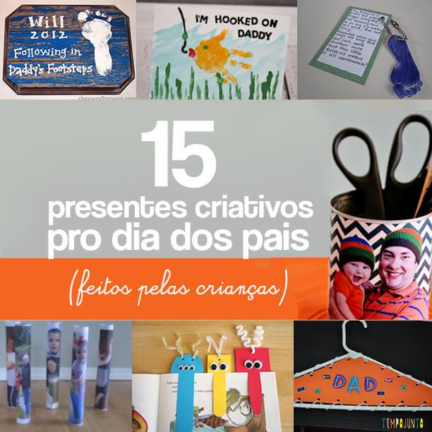 15 ideias de presentes feitos pelas crianças para o dia dos pais