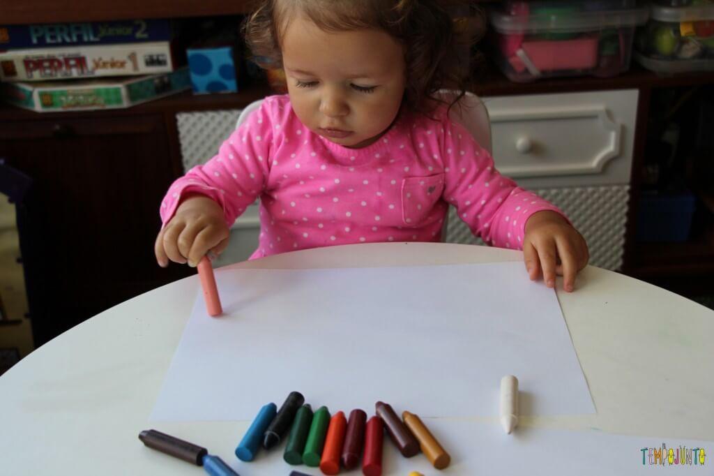 A arte da Gabi virou um presente para o papai - primeiro giz