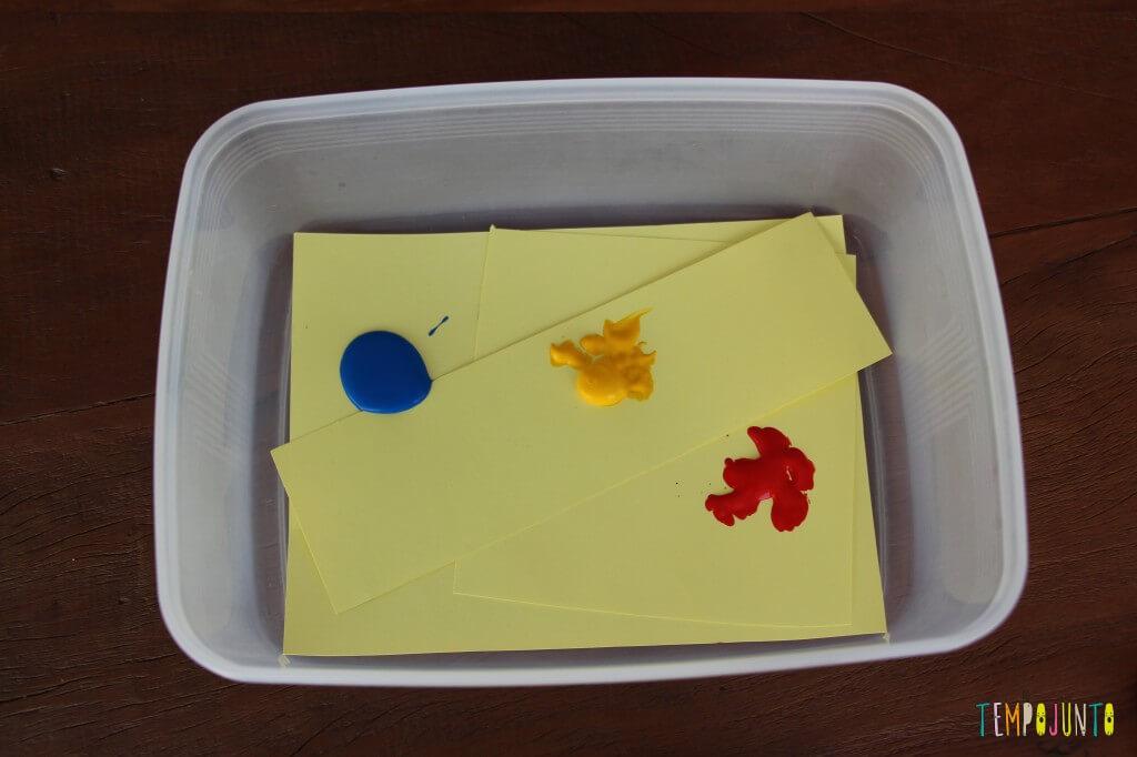 Arte para bebês - como fazer meu primeiro mestre da história da arte - papeis dentro da caixa
