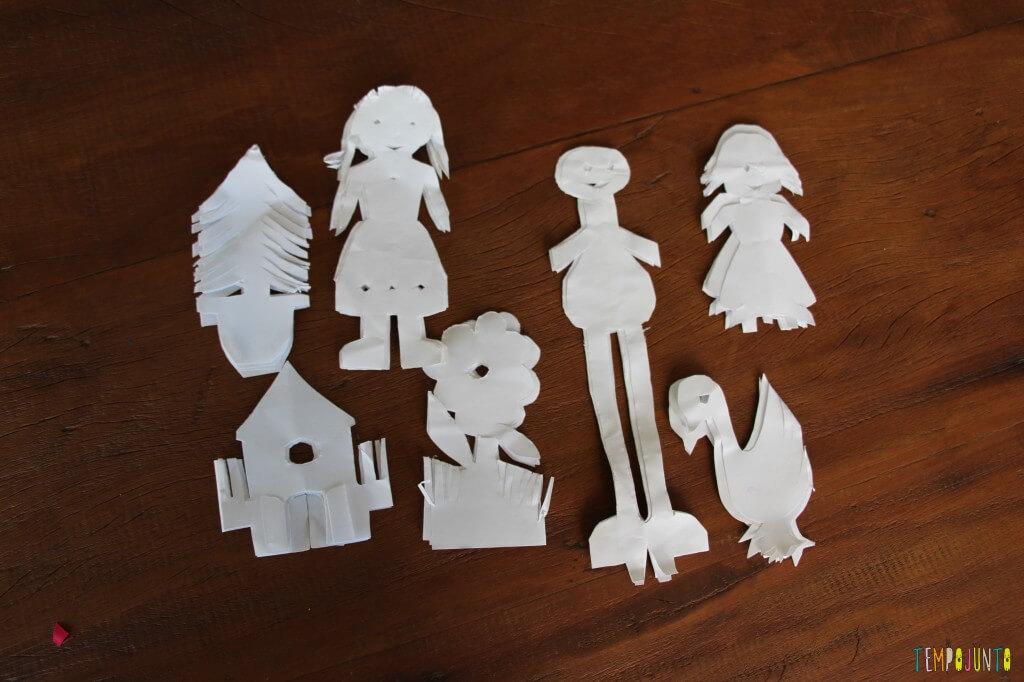 Brincadeiras da vovó - figuras de papel recortado - Bonecos prontos