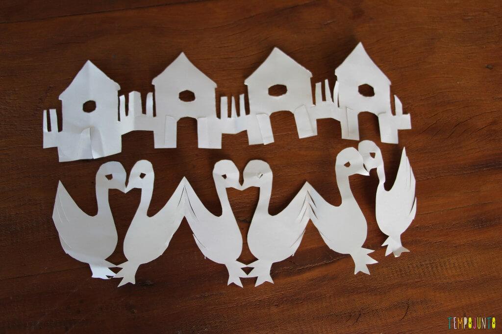 Brincadeiras da vovó - figuras de papel recortado - fazenda