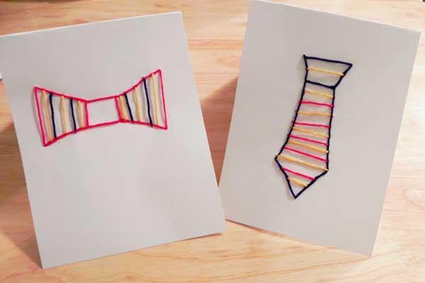 10 ideias criativas de cartão para o Dia dos Pais - gravata borboleta