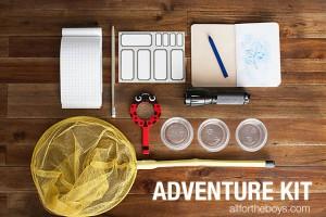Férias em casa com gostinho de viagem - kit aventureiro