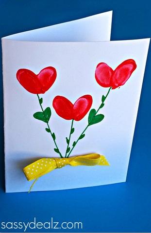10 ideias criativas de cartão de Dia dos Avós feito pelas crianças - dedos laço