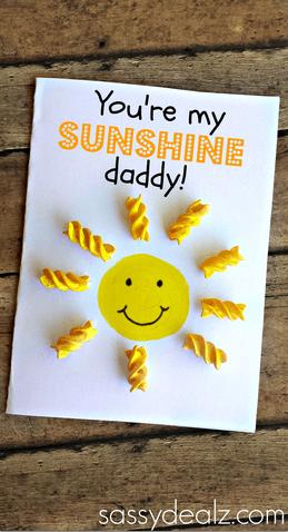 10 ideias criativas de cartão para o Dia dos Pais - cartao do sol