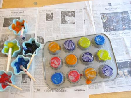 10 ideias criativas de pintura com carimbo - forma de muffin