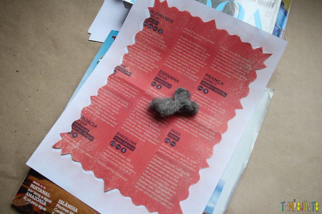 Arte com bombril - a tinta que sai do papel com bombril