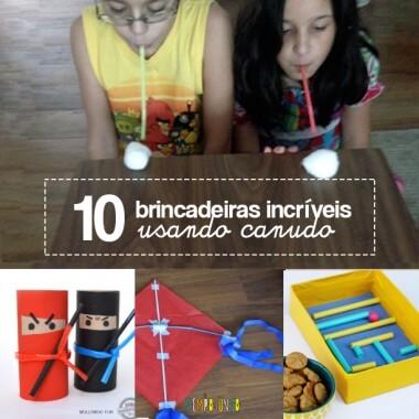 10 ideias de brincadeiras com canudo