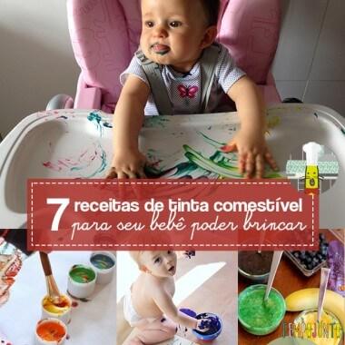 7 receitas de tinta comestível para bebês