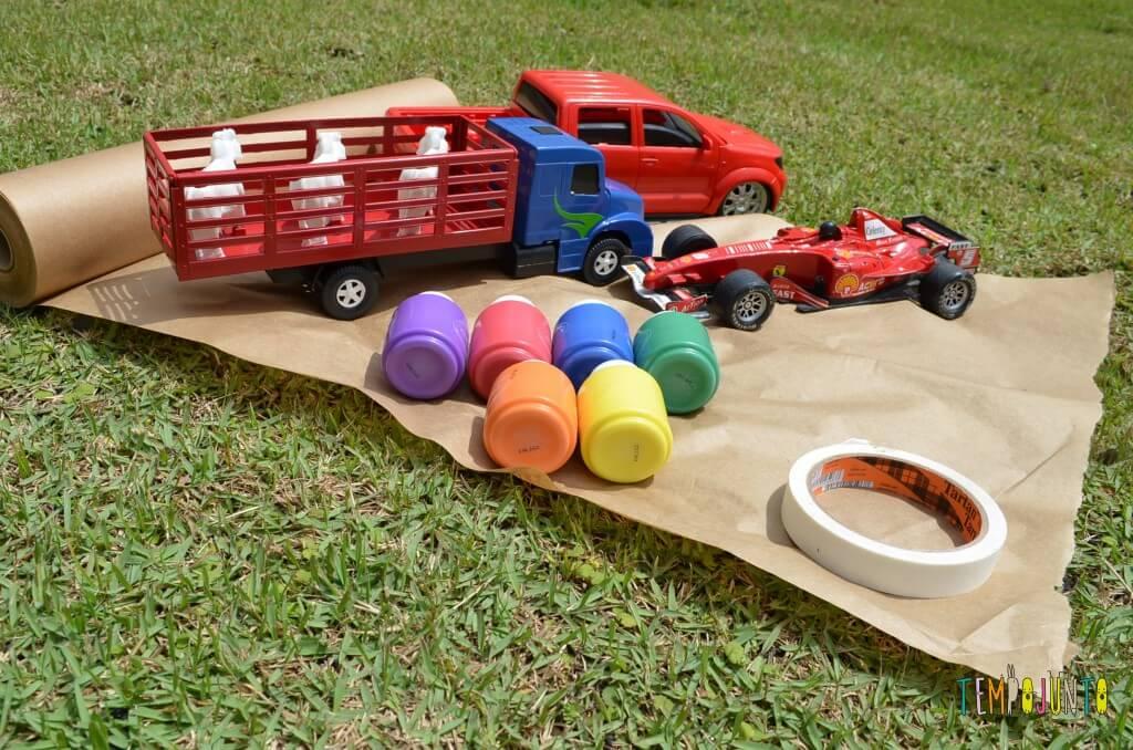 8 brincadeiras de artes ao ar livre - material pista de corrida