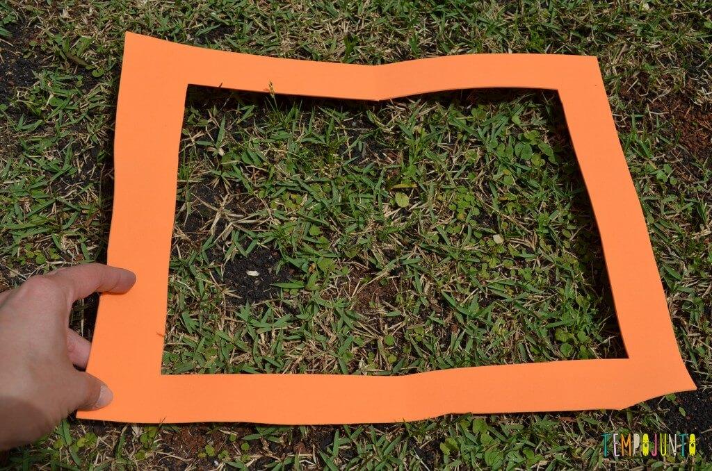 8 brincadeiras de artes ao ar livre - moldura pronta