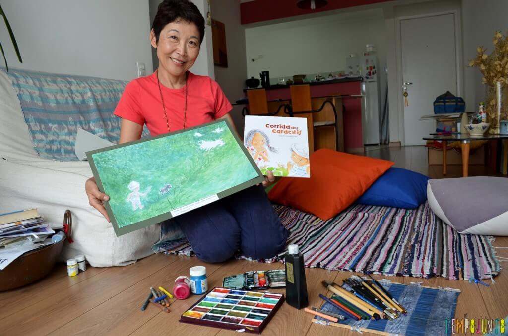 Livro Brincante- Lucia Hiratsuka - Memórias do oriente embaladas em contos infantis - lucia com arte