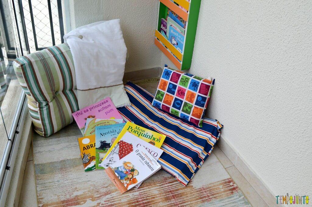 Mais 5 brincadeiras que tornam a hora da leitura mais estimulante - area de leitura