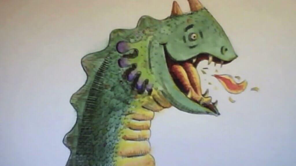O arauto da alegria Ney Megale lança o Mistério dos Narizes Desaparecidos - dragão