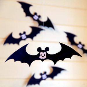 10 ideias criativas para o Halloween - morcego de mickey