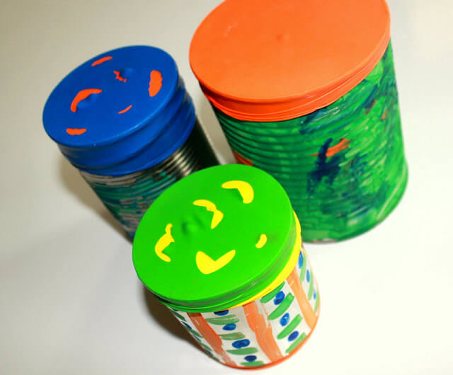 15 ideias criativas para fazer instrumentos musicais com crianças - tambor de lata e bexiga