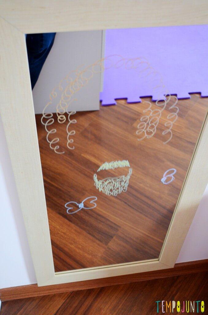As descobertas incríveis ao brincar com seu filho no espelho - espelho desenhado