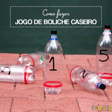 Como fazer boliche de garrafa pet