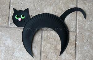 Faça você mesmo ideias criativas para o Halloween - Gato preto