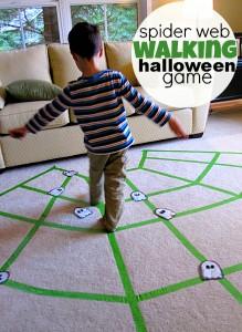 Faça você mesmo ideias criativas para o Halloween - jogo da teia de aranha