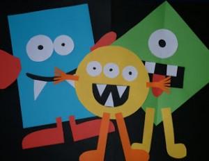 10 maneiras criativas de brincar de monstro - monstro de formas