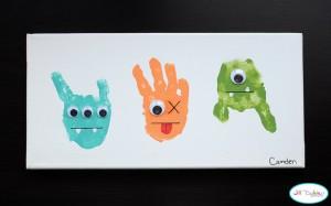 10 maneiras criativas de brincar de monstro - monstro de maos