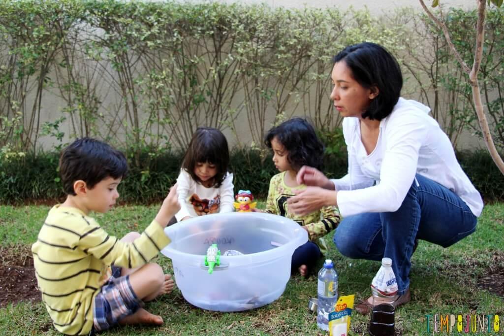 Faça com seus filhos um vulcão caseiro com lava de verdade - pat as crianças e o vulcao