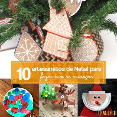 10 ideias de artesanato de natal para fazer com as crianças