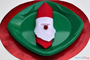 10 ideias de presentes para fazer com os filhos - anel de guardanapo de papai noel