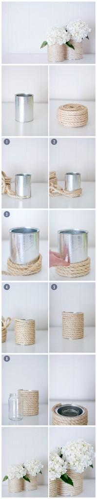 10 ideias de presentes simples e criativos para você fazer - vaso de corda