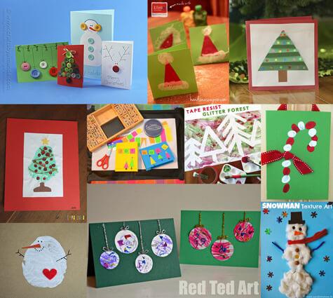 20 cartões de natal criativos para fazer com os filhos - montagem fotos 2014