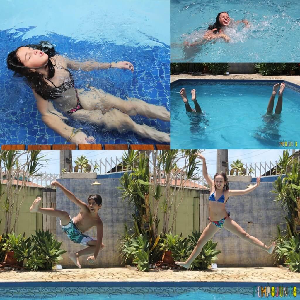 7 dicas de brincadeiras para as férias de verão - montagem piscina