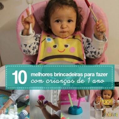 As 10 melhores brincadeiras para crianças de 1 ano