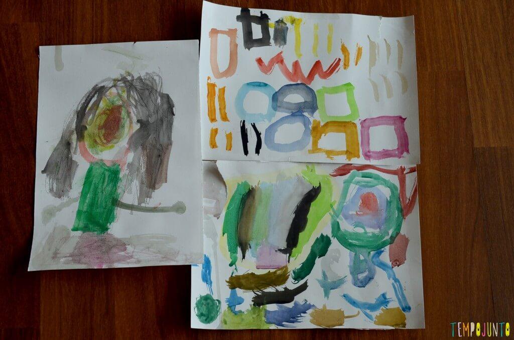 como fazer uma exposicao com sobras de material e atividades escolares - conjunto figuras 2