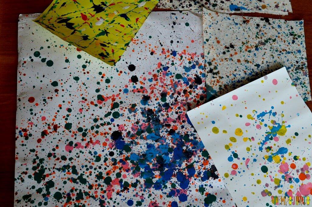 como fazer uma exposicao com sobras de material e atividades escolares - conjunto pingos