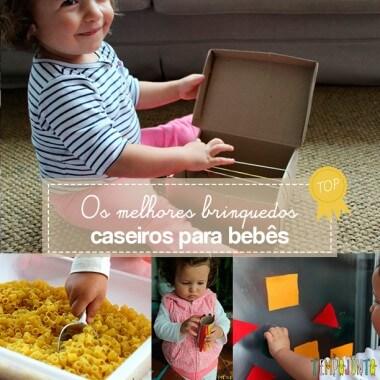 Os melhores brinquedos caseiros para bebês de 18 a 24 meses