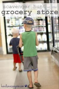 10 maneiras de brincar de caça ao tesouro - caça ao tesouro no supermercado