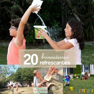 20 Brincadeiras refrescantes para um dia quente capa