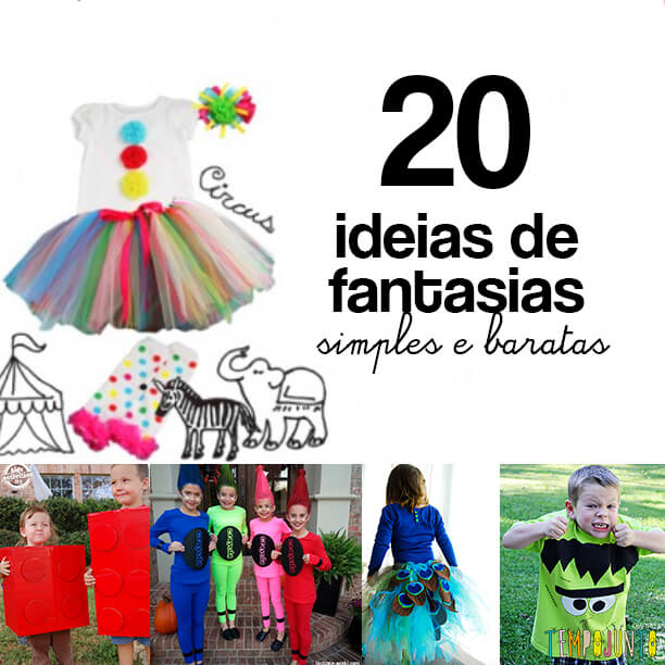 20 ideias de fantasias simples e baratas para o carnaval