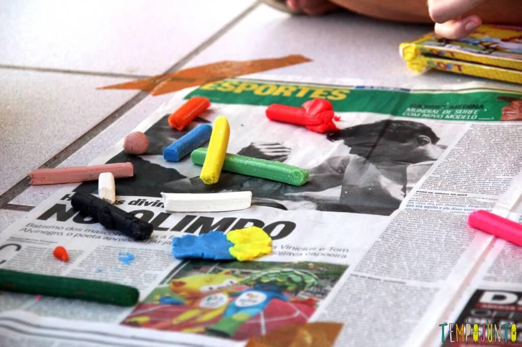 Brincar de massinha é bom para todo mundo - materiais