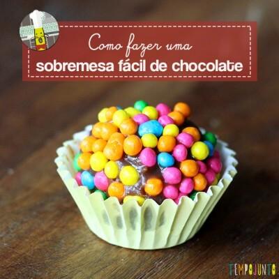 Sobremesa fácil de chocolate