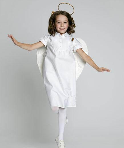 10 fantasias de última hora para as crianças - fantasia de anjo